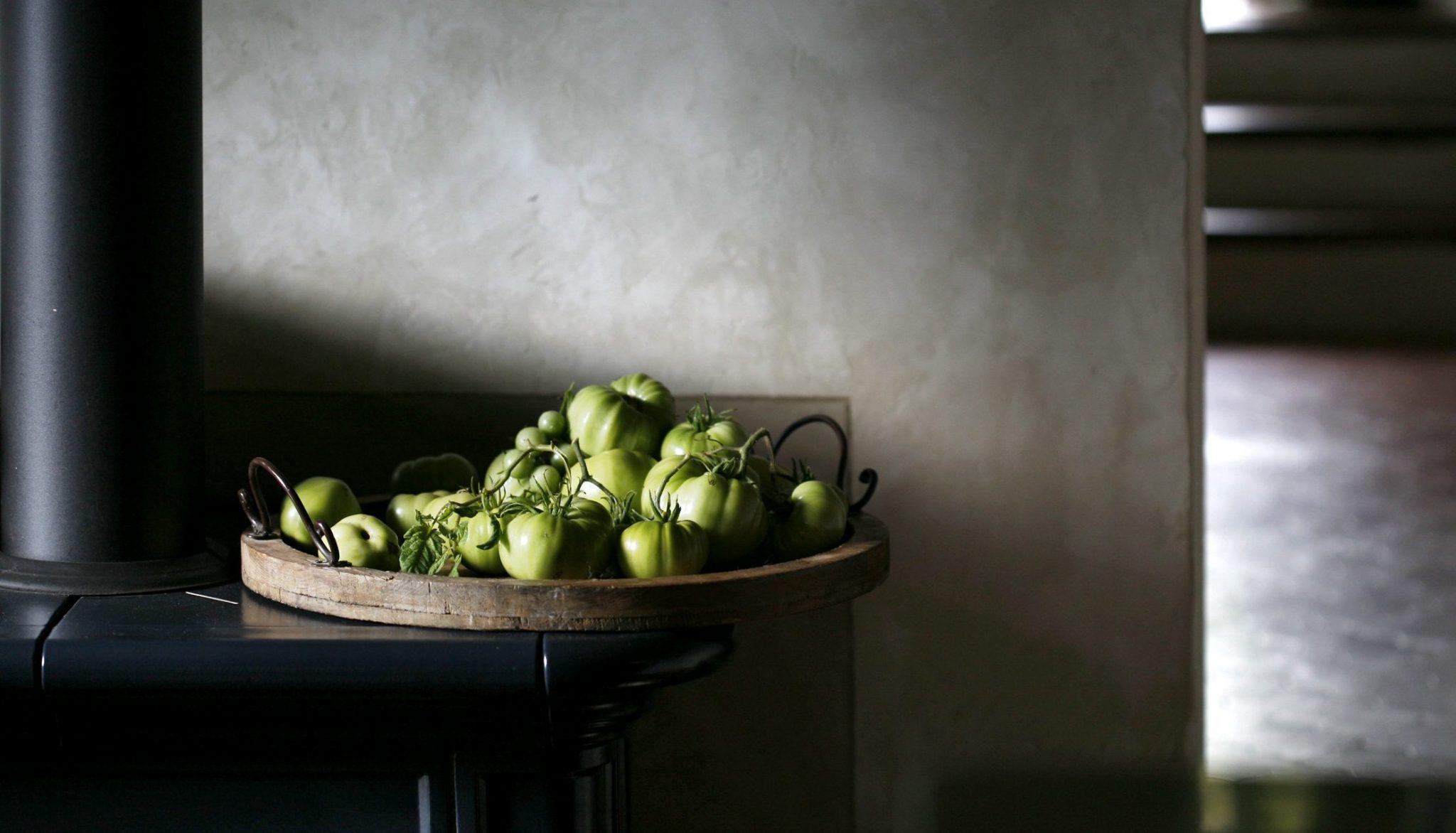 tomates vers avant la confiture