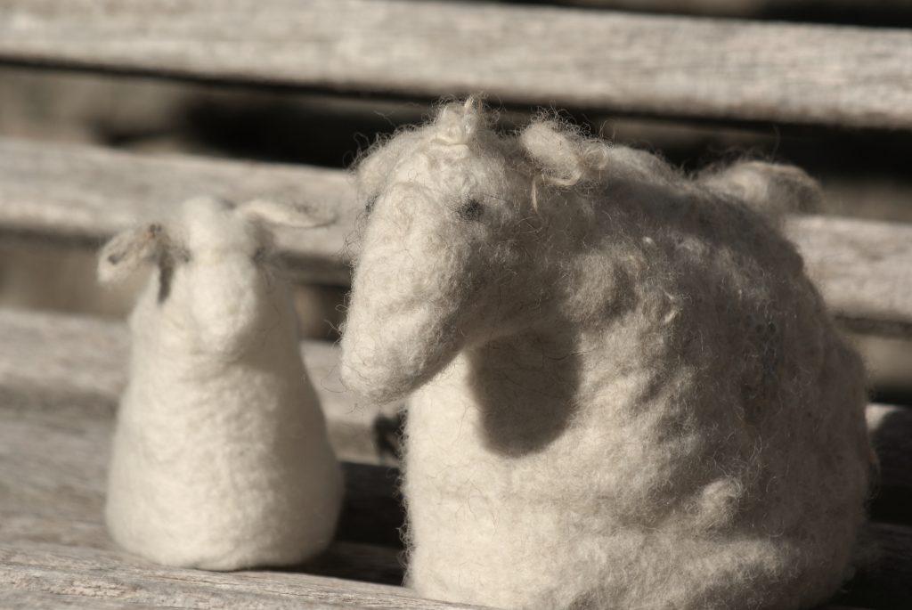 moutons en feutre
